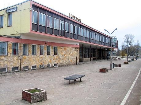 La gare de Terespol (Pologne), point de passage polono-biélorusse