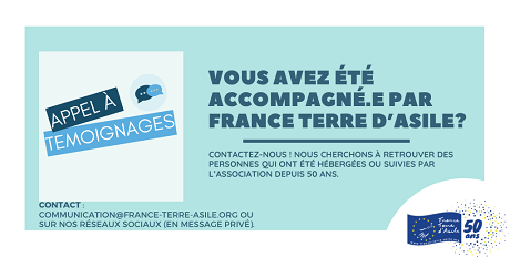 Vous avez été accompagné.e par France Terre d'Asile? Contactez-nous