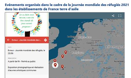Evénements organisés dans le cadre de la Journée mondiale des réfugiés dans nos établissements partout en France